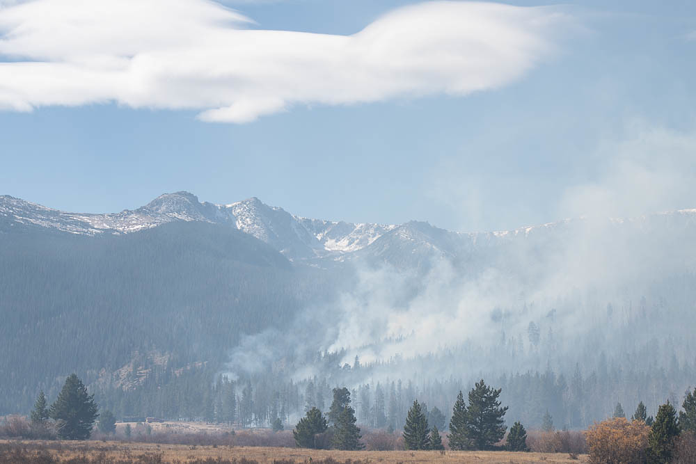 Wildfire in Colorado mountains