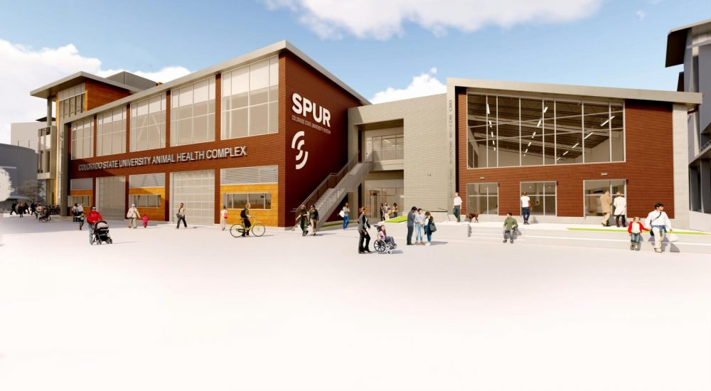 artist's rendering of the new Spur campus in Denver