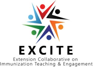 EXCITE Logo. Extension COllaborative on Immunization Teaching & Engagement
