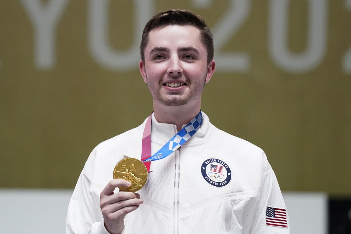 Will Shaner with his gold medal