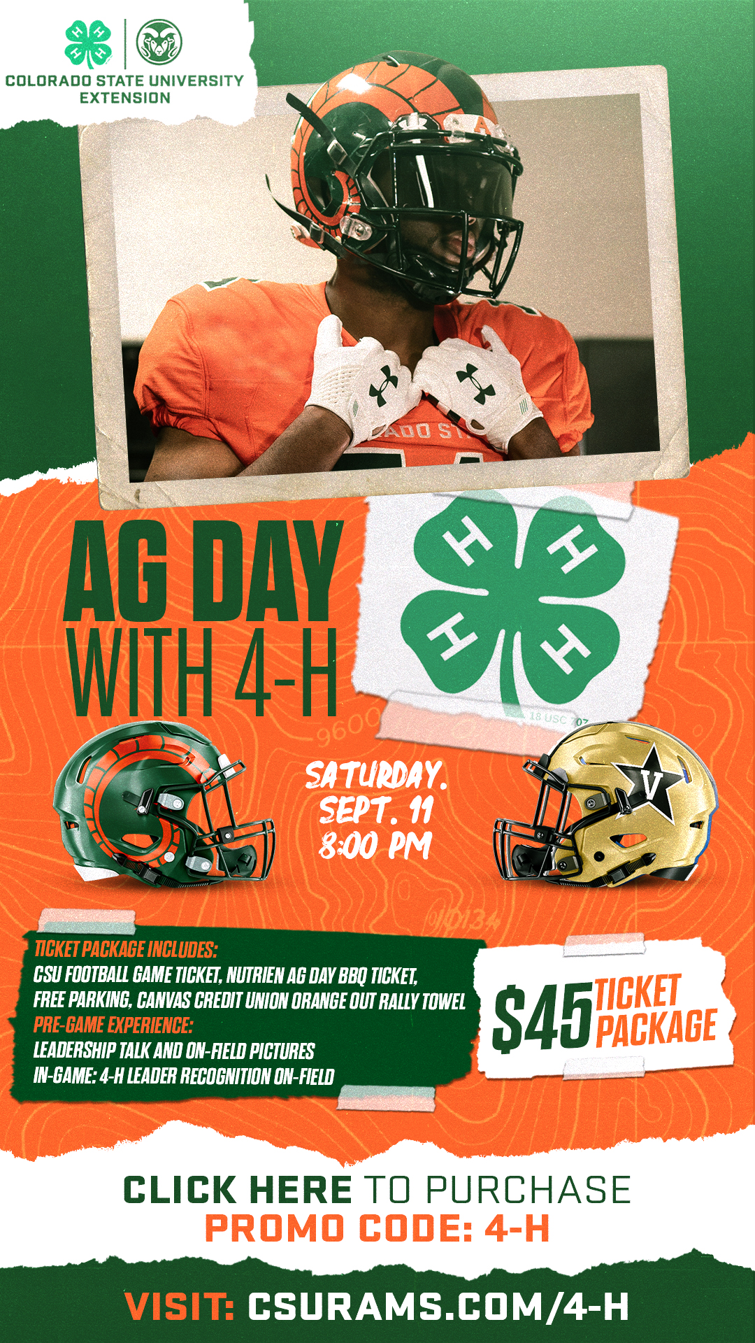 Ag day with 4-H promotional flyer