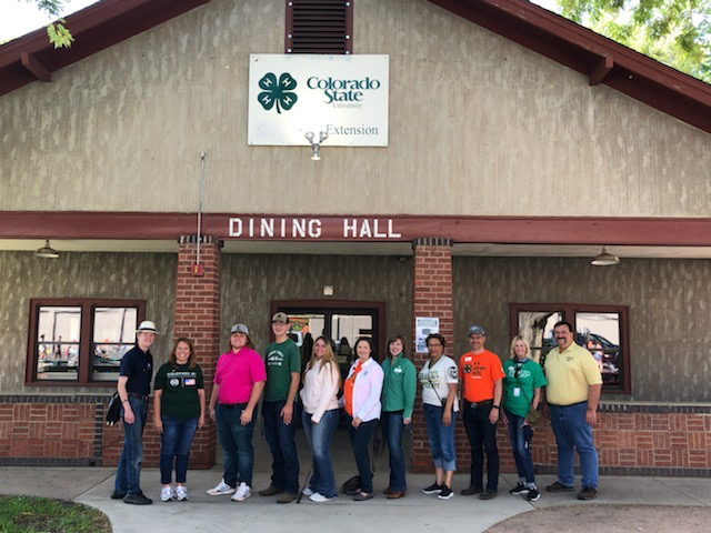 CSU President McConnell and Provost Pederson joined 4-H staff for a tour of the fairgrounds