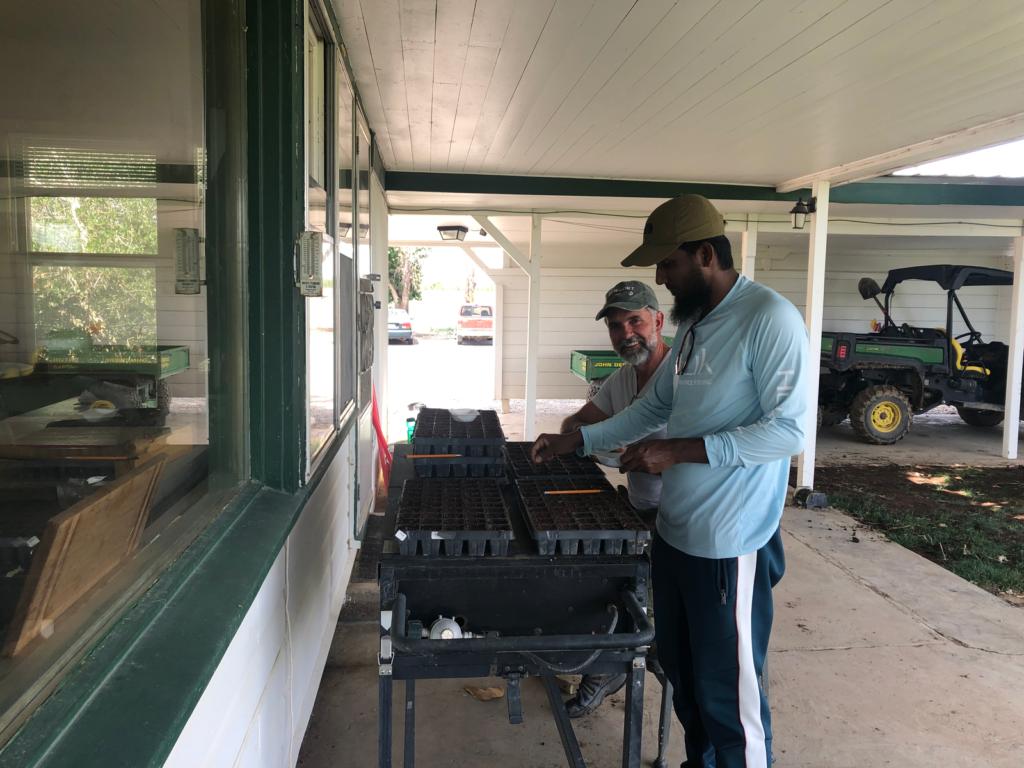 Azmal working on soil samples